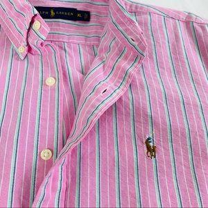 Ralph Lauren Blue Label Striped Button Down Shirt